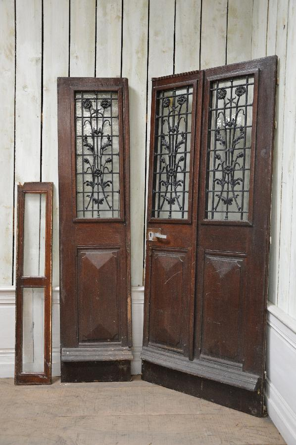 antique door with decortive ironwork FAE472