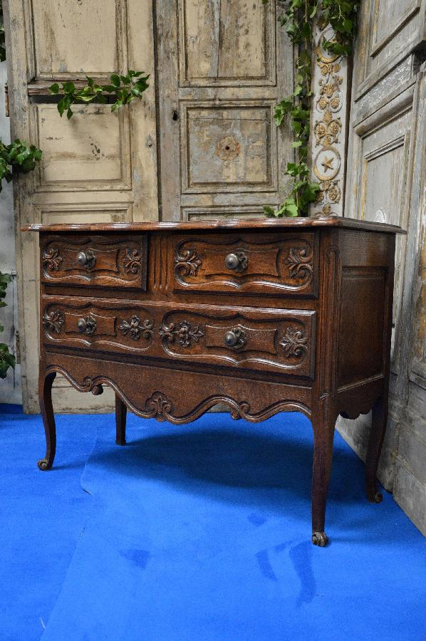 oak chest louis xv style FAE531