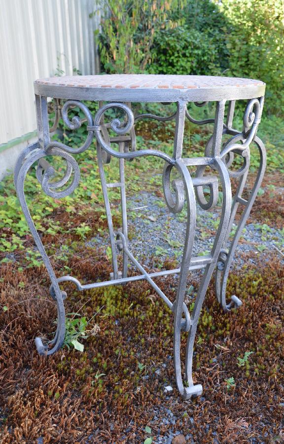 wrought iron gueridon FAE591