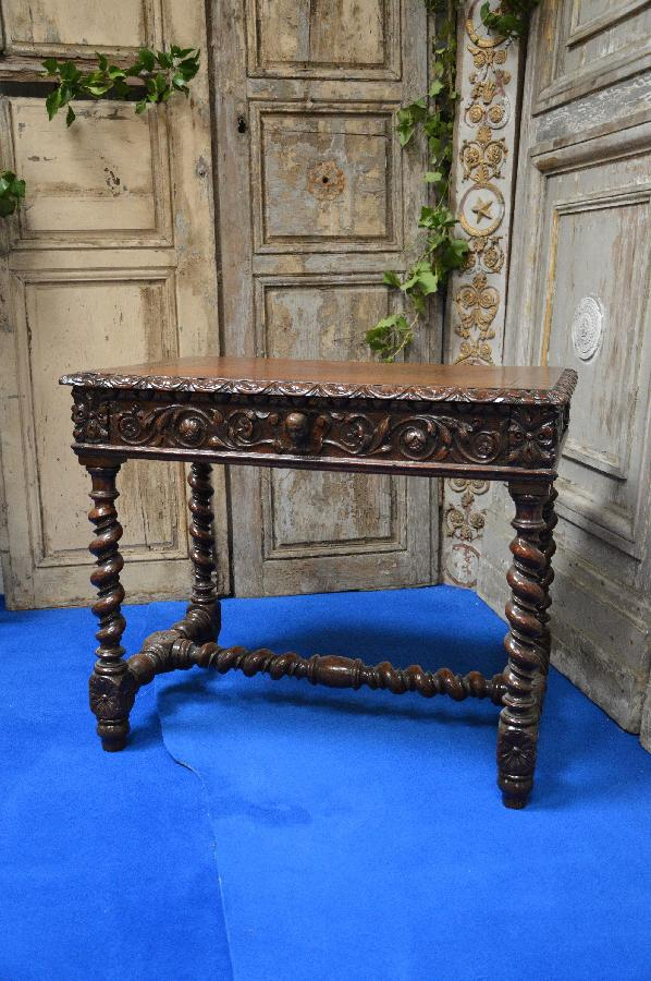 oak desk louis xiii style FAE527