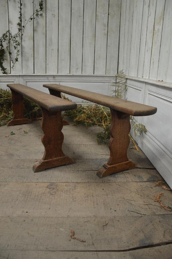 pair of oak bench FAE555