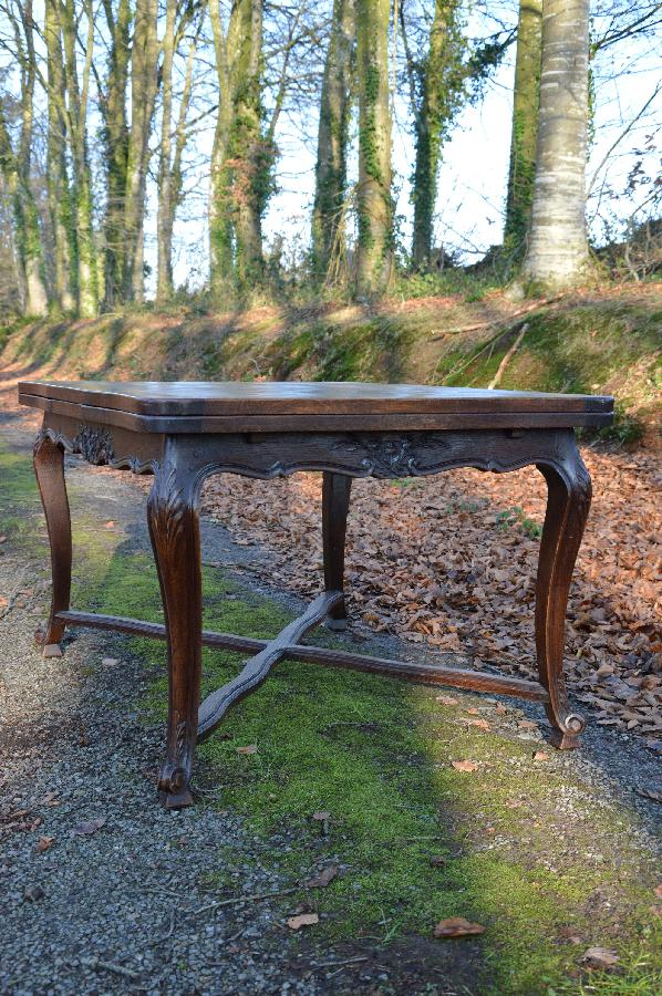 french antique oak dining table louis xv style FAE521