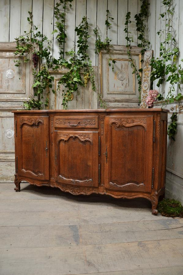 french antique oak sideboard louis xv style FAE459