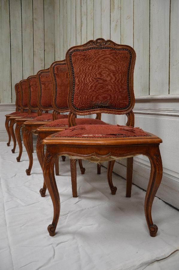 french antique set of 6 chairs FAE484