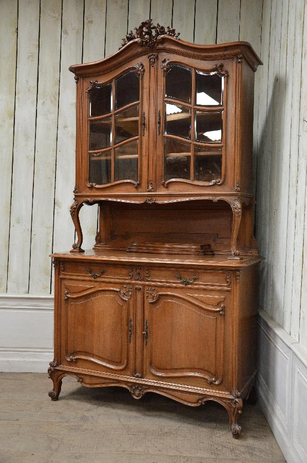 french antique walnut vaisselier rocaille style FAE540