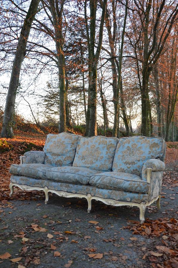 large painted sofa louis xv style FAE284