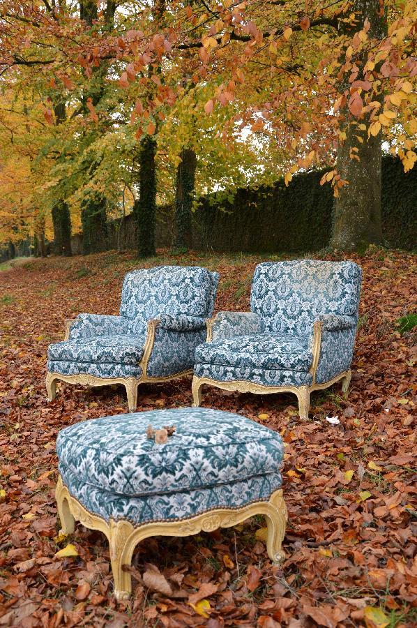 painted pair of armchairs louis xv style FAE390