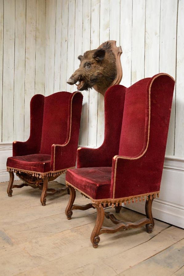 pair of armchairs louis xiv style FAE292