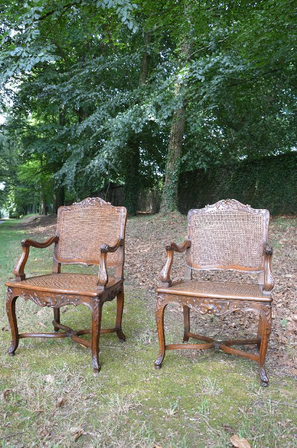 pair of armchairs louis xv style FAE264