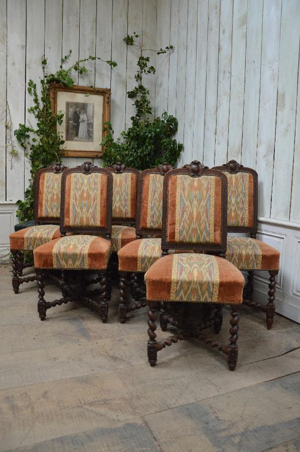 set of 10 chairs louis xiii style FAE504