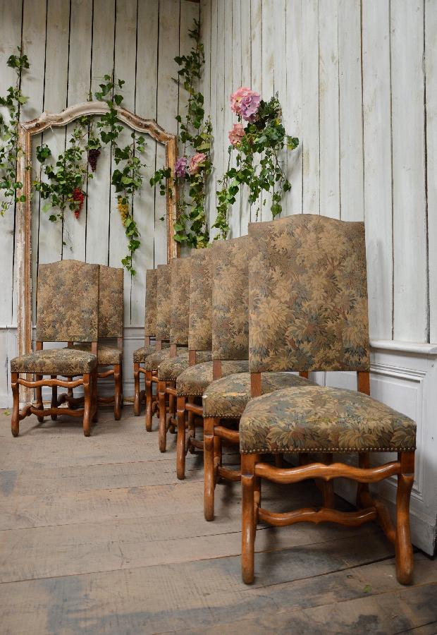 set of 8 chairs os de mouton style FAE468