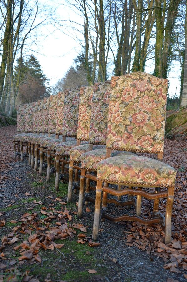 set of eleven chairs os de mouton style FAE500