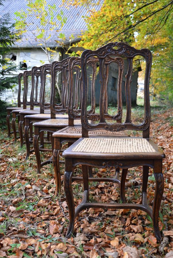 set of seven chairs louis xv style FAE480